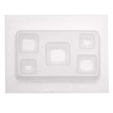 Resin Epoxy Mould For Jewellery Casting - Assorted Squares
