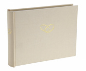 Semikolon Small 80 Page Wedding Photo Album - Chamois Cream with Wedding Rings