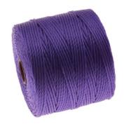 BeadSmith Super-Lon Cord - Size #18 Twisted Nylon - Violet / 77 Yard Spool