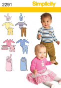 Simplicity A XXS-XS-S-M-L Sewing Pattern 2291 Babies Separates