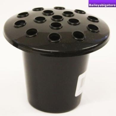 Replacement Memorial Plastic Black Vase and Lid