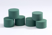 6 x Oasis Ideal Round Cylinder Wet Foam for Florist Floral Craft Flowers Floristry Designs & Displays