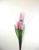 3 Head Torch - Pink - Artificial Flowers