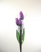 3 Head Torch - Purple - Artificial Flowers