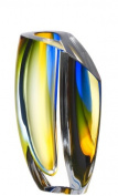 Kosta Boda Mirage Large Vase, Blue/Amber