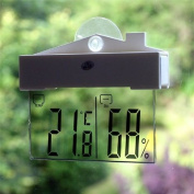 JSG Accessories® Digital Window Thermometer Hydrometer Weather Station Indoor Outdoor