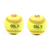 OSL-1 high competition softball ball, size 30cm , white, 2 pcs