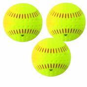 Baden Unisex Ssbr Feather Lite Softball - 3Pk - Yellow