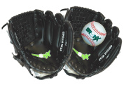 Bronx Junior Catch Set / Glove Set with Ball - Black / White, 25cm