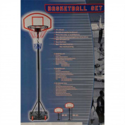 Basketball Set (Height Adjustable and Portable) [Sports]