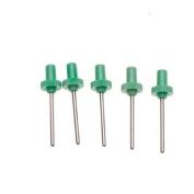 5Pcs Green Plastic Head Metal Needle Inflating Inflator Needles for Ball Pumps