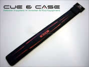BCE 2 Piece Black Snooker Cue Sleeve Case - Red Logo