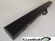 Sturdy Black Hard 2pc Snooker Cue Case Red Interior