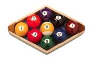 Homegames Pool Table Ball Wooden Diamond 5.7cm American 9 ball