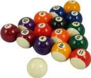 Spots & Stripes Pub Pool Table Balls; 5.1cm , with 1 7/8 cue ball
