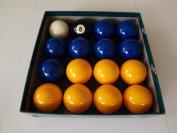 Blue and Yellow 5.1cm Aramith Pool Ball Set