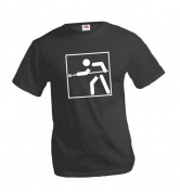 T-Shirt Cue Sports-Pictogram