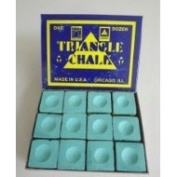 12 PIECES GREEN TRIANGLE CHALK **