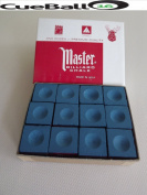 Master Chalk BLUE Snooker & Pool Chalk - BOX of 12