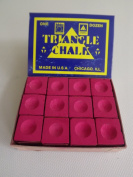 """Box of 12 Red Triangle """"King of them all"""" Pool and Snooker Table Chalks,"""