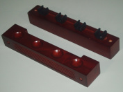 2 MAHOGANY POOL / SNOOKER CUE RACK HOLDS 4 CUES **