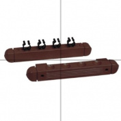 4 Cue Wooden Rack & Clips, Mahogany