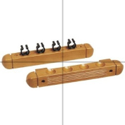 4 Cue Wooden Rack & Clips, Maple