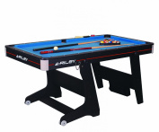Riley 1.5m Folding Domestic Pool Table - Black