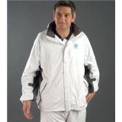 Taylor Bowls Waterproof Breathable Flexi Dri Unisex White Grey Jacket