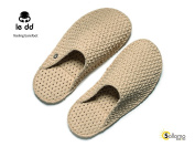 """Le DD """"DREAM"""" Slippers Travel Pool Shoes CAPPUCCINO UNISEX Size L = UK 10 - 12"""