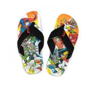 Justice League of America Action Print Superhero Flip Flop Sandals | L