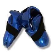 Martial Arts Dipped Foam Sparring Boots Double Layer - Blue