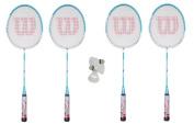 4 x Wilson Hyper Zone Badminton Rackets + 3 Shuttles RRP £110