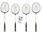 4 x Browning Nanolite Ti badminton rackets (2 x Junior + 2 x Adult) + 3 x Shuttles RRP £159.99
