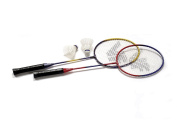 Vicfun Hobby Set B Badminton Set - Red/Blue/Yellow/Black