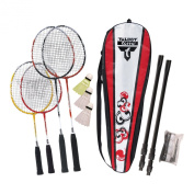 Talbot Torro Sportline Family 4 Player Badminton Set - Red/Black/White