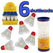 SET 6 KIDS PLASTIC INDOOR OUTDOOR BADMINTON SPORTS SHUTTLECOCK SHUTTLECOCKS PLAY