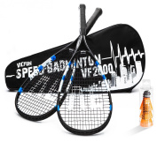 Vicfun 2000 Speed-Badminton Set - Black/Blue/White