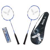 Victor Vertex 8 099/0/4 Badminton Set Blue / Silver