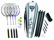 Talbot Torro Fighter Badminton 4 Player Set - Grey/Black/White, 70cm