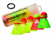 Speedminton Speedertube Mixpack 5Pcs Racket Sports - Yellow/Orange