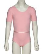 KDR006 Girls Ladies All Colours Katz RAD Uniform Ballet Dance Short Sleeved Cotton Lycra Leotard + Belt By Katz Dancewear