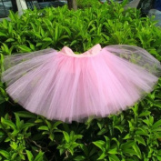 Pink Girls Princess Fairy Tutu Ballet Dress Up Twirly Skirt 3 Layers 1-3T