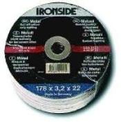 Ironside 241412 Trennscheiben115x3,0mm Metall gekröpft,Bohrung 22m