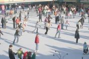 Ultrasport Boy's Adjustable Size Ice Skates - Black/Blue, Size 10.5 - 12.5 (EU