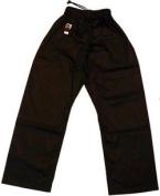 Kung Fu Black 100% Cotton Open Legged Trousers