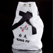 Blitz Sport Kung Fu White Duffle Bag