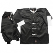 Martial Arts 100% Cotton Black/White Kung Fu Uniform