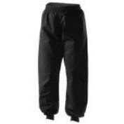 Kung Fu Black 100% Cotton Cuffed Trousers