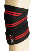WEIGHT LIFTING POWER LIFTING KNEE WRAPS KNEE SUPPORT BANDAGE-black